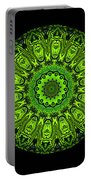 Kaleidoscope Triptych Of Glowing Circuit Boards Portable Battery Charger