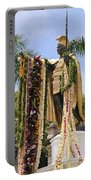 Kamehameha Covered In Leis Portable Battery Charger