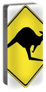 Kangaroo Crossing Sign Portable Battery Charger