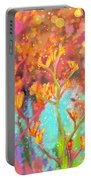 Kangaroo Flower In Spring Bubbles Portable Battery Charger