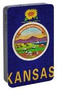 Kansas State Flag Portable Battery Charger