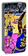 Karl Malone Portable Battery Charger by Florian Rodarte