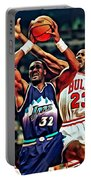 Karl Malone Vs. Michael Jordan Portable Battery Charger