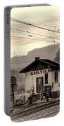Karlstejn Railroad Shack Portable Battery Charger by Joan Carroll