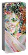 Kathleen Battle - Watercolor Portrait Portable Battery Charger