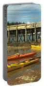 Kayaks By The Pier Portable Battery Charger by Adam Jewell