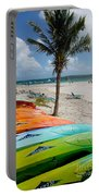 Kayaks On The Beach Portable Battery Charger