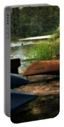 Kayaks On The Shore Portable Battery Charger
