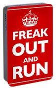 Keep Calm And Carry On Parody Red Portable Battery Charger