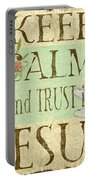 Keep Calm-trust In Jesus-3 Portable Battery Charger