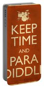 Keep Time And Paradiddle Poster Portable Battery Charger