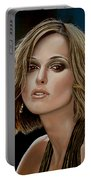 Keira Knightley Portable Battery Charger by Paul Meijering