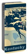Kentucky Derby Champion Portable Battery Charger by RJ Aguilar