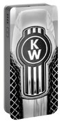 Kenworth Truck Emblem -1196bw Portable Battery Charger