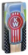 Kenworth Truck Emblem -1196c Portable Battery Charger