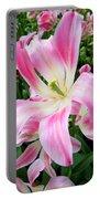 Keukenhof Pink Lily Portable Battery Charger