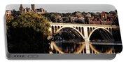 Key Bridge And Georgetown University Washington Dc Portable Battery Charger