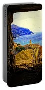 Key Hole View Of Dubrovnik 2 Portable Battery Charger