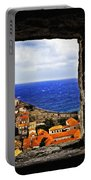 Key Hole View Of Dubrovnik Portable Battery Charger