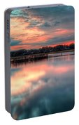 Keyport Nj Sunset Reflections Portable Battery Charger