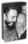 Khrushchev And Castro Portable Battery Charger