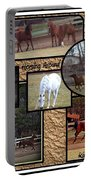 Horses Kickin It  Portable Battery Charger