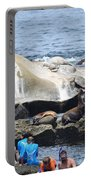 Kids And Sea Lions Portable Battery Charger