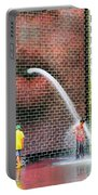 Kids Play In City Fountain Portable Battery Charger