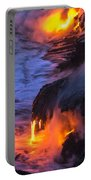 Kilauea Volcano Lava Flow Sea Entry 5 - The Big Island Hawaii Portable Battery Charger