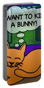 Cat Thoughts Portable Battery Charger