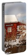 Kimberton Mill After Snow Portable Battery Charger