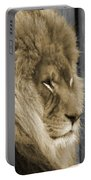 King In Sepia Portable Battery Charger