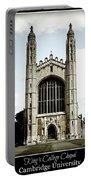 King's College Chapel - Poster Portable Battery Charger