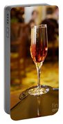 Kir Royale In A Champagne Glass Portable Battery Charger