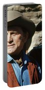 Kirk Douglas Johnny Cash A Gunfight  Old Tucson Arizona 1971 Portable Battery Charger