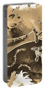 Kiss Me Hot Stuf In Sepia Portable Battery Charger