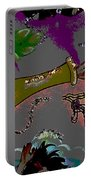 Kiss Me Hot Stuf Posterized Portable Battery Charger