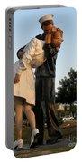 Kissing Sailor At Dusk - The Kiss Portable Battery Charger