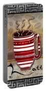 Kitchen Cuisine Hot Cuppa Coffee Cup Mug Latte Drink By Romi And Megan Portable Battery Charger