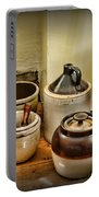 Kitchen Old Stoneware Portable Battery Charger by Paul Ward