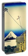 Kite Flying Over Mount Fuji Portable Battery Charger