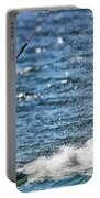 Kite Surfing Splash Portable Battery Charger by Dan Sproul