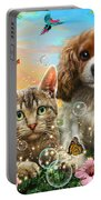 Kitten And Puppy Portable Battery Charger