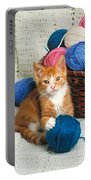 Kitten Playing With Yarn Portable Battery Charger