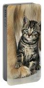 Kitten With Golden Retriever Portable Battery Charger