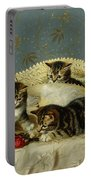 Kittens Up To Mischief Portable Battery Charger