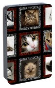 Kitty Cat Tic Tac Toe Portable Battery Charger