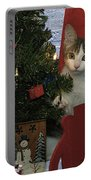 Kitty Says Happy Holidays Portable Battery Charger