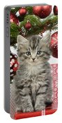 Kitty Xmas Present Portable Battery Charger