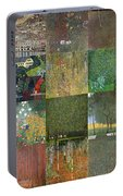 Klimt Landscapes Collage Portable Battery Charger
